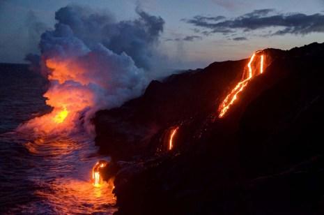 Kilauea Lava Flow at Night