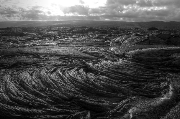 Lava field horizon