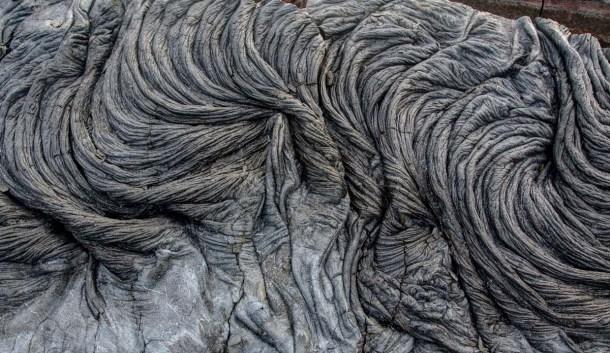 Swirling lava rock