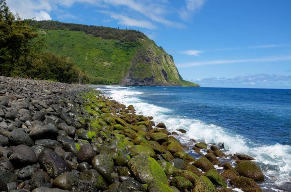 Waipio Valley Rocky Shore, Big Island, Hawaii
