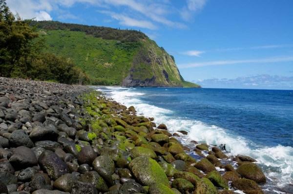 Waipio Valley Rocky Shore, Big Island, Hawaii