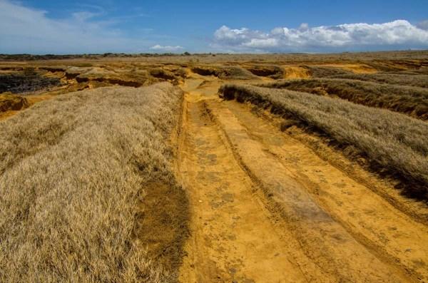 Road to Papakolea Green Sand Beach, Big Island, Hawaii