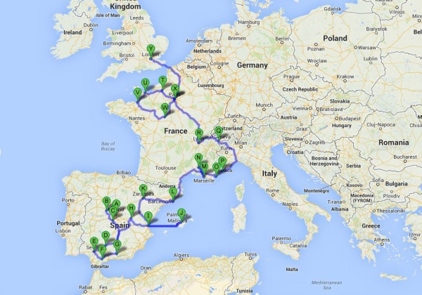 Spring European Travel Plan