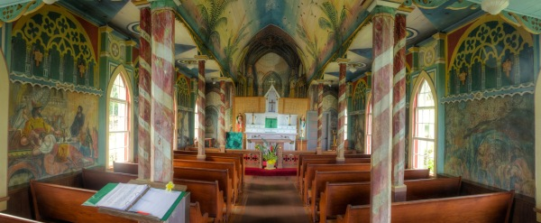St Benedict Painted Church, Kona, Hawaii