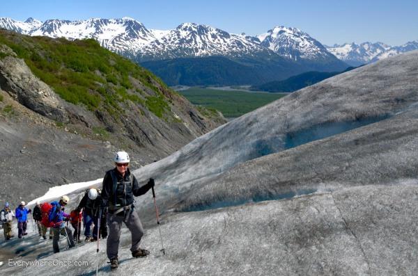 Climbing exit Glacier