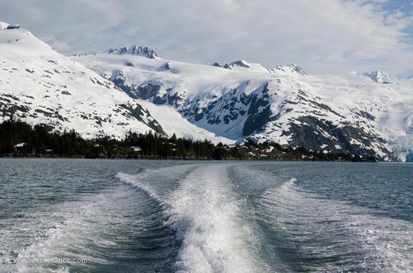 Water Taxi Wake in Blackstone Bay