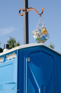 Art is everywhere on Whidbey, even brightening up this porta-potty.