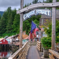 Colorful Creek Street, Ketchikan