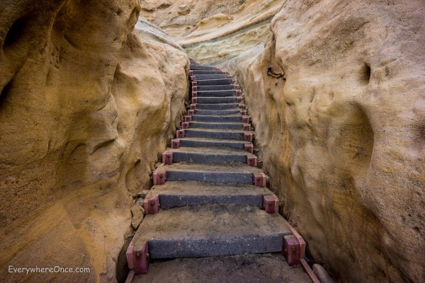 Stairs in Torrey Pines State Reserve