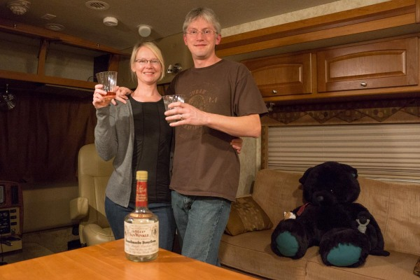 Toasting our last night in the RV