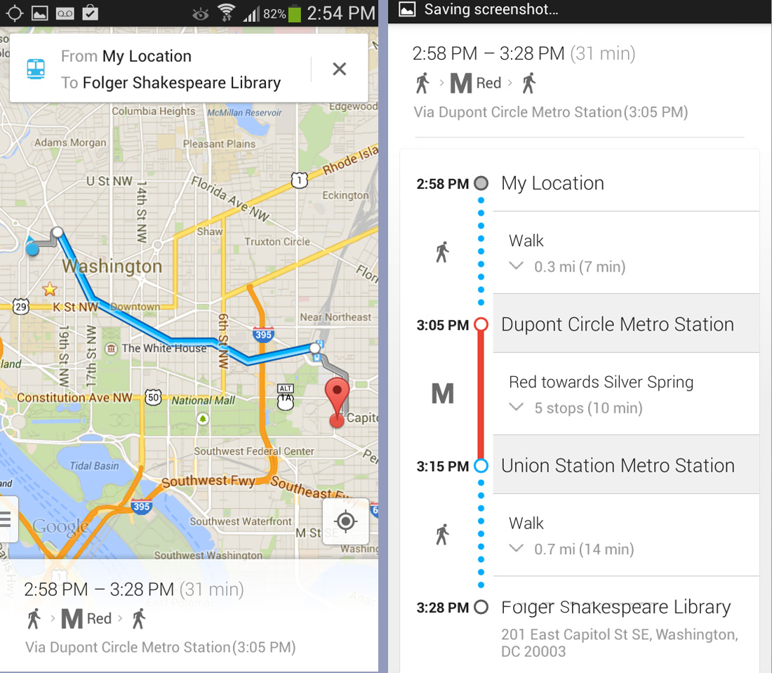how to change google directions