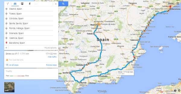 How we thought we'd travel around Spain