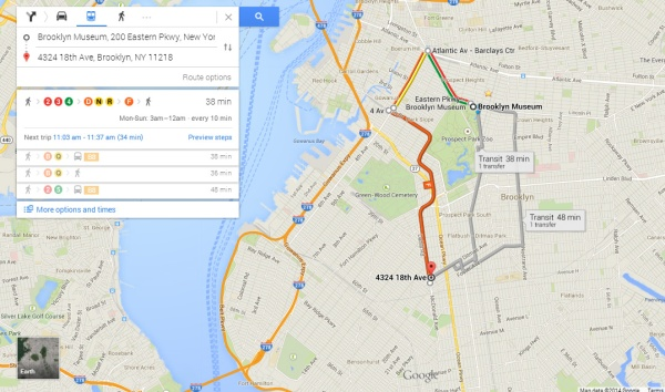 Google Maps even figured helped us with this three-train head scratcher.