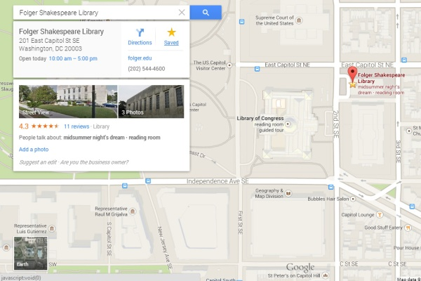 Google Maps - Save Location on Your Desktop