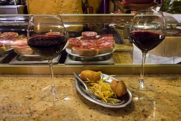 Wine and Tapas in Madrid