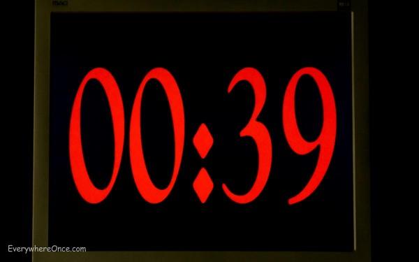 Count Down Clock, The X Door, Valencia Spain