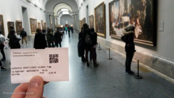Free night at the Prado