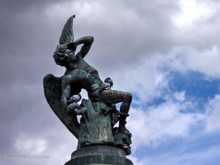 Fuente del Ángel Caído, Madrid Spain, Fountain of the Fallen Angel