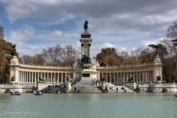 King Alfonso XII Statue in Buen Retiro Park, Madrid