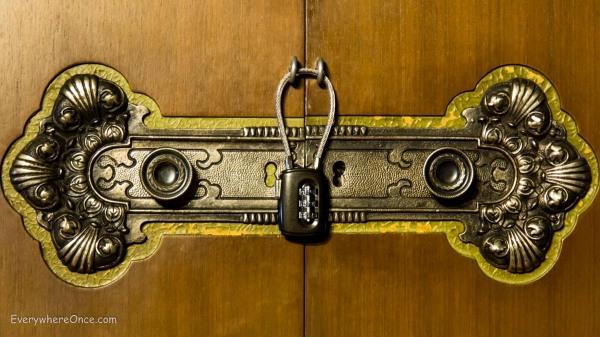 Ornate Locked Door, The X Door, Valencia, Spain