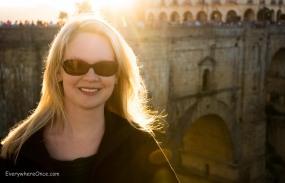 Shannon on New Bridge, Ronda, Spain