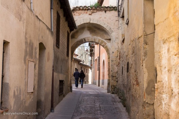 Walking the narrow streets of Segovia Spain