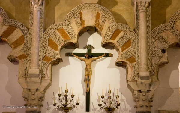 Cordoba Mezquita Moorish Architecture and Christian Crosses