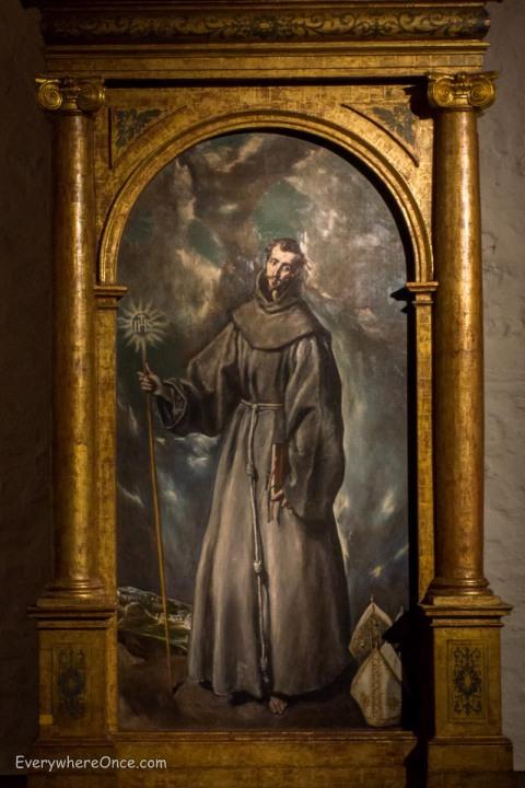El Greco's Altarpiece of St. Bernardine, Museo del Greco, Toledo, Spain