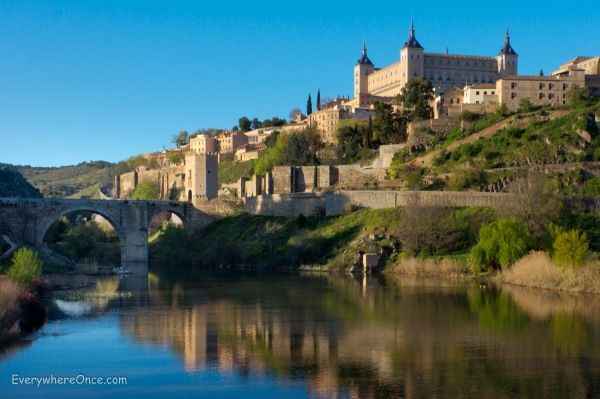 Toledo Spain overlooking the Tagus River