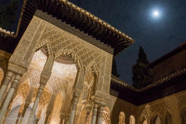 Alhambra Nasrid Palace at Night