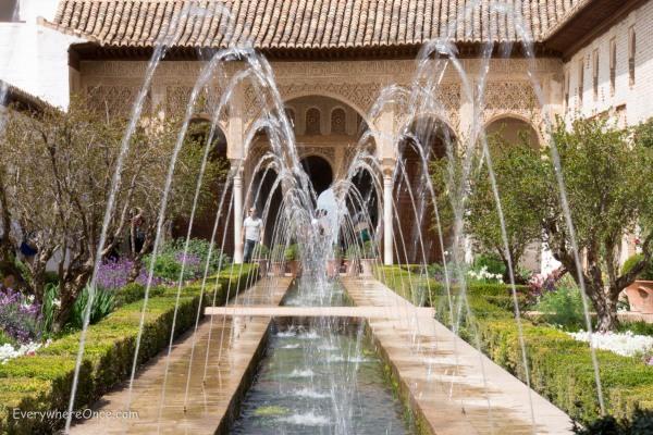 Court of la Acequia Fountain in Alhambra's Palacio de Generalife