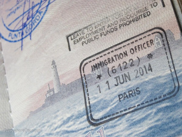 Passport Stamp, Paris