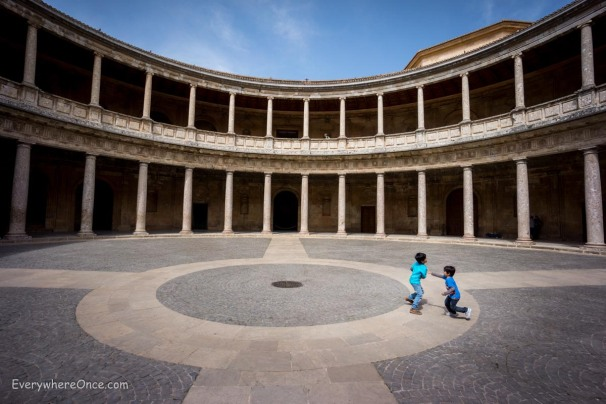 Playing Tag in Alhambra's Alhambra Palace of Charles V_