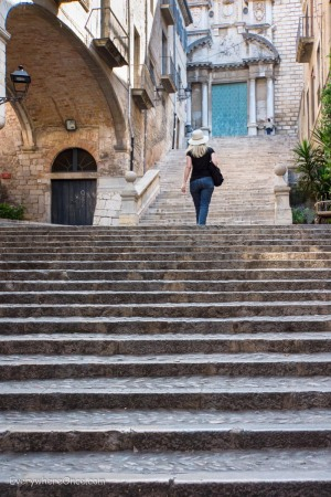 The Stairs of Girona, Spain