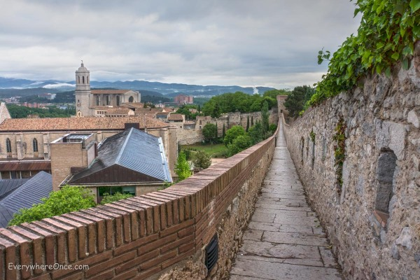 Girona skyline from the City walls