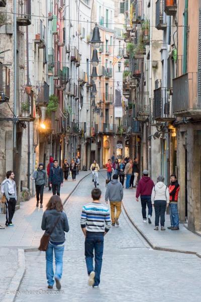 Girona, Spain City Streets