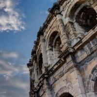 A Roman Coliseum in Nimes, France