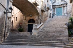 Stairs in Girona Spain