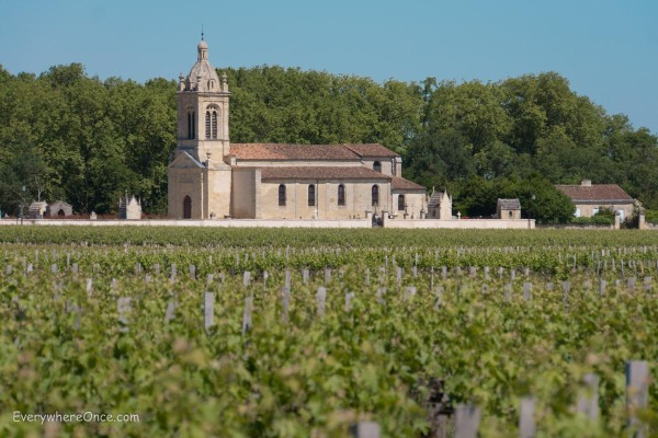 Bordeaux Church and vineyards