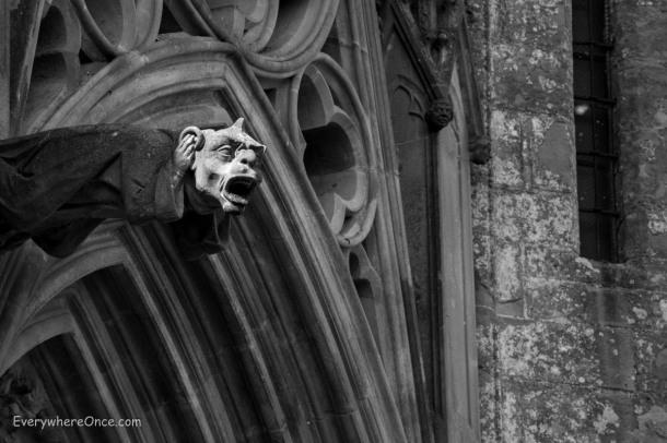 Basilica of St. Nazaire Gargoyle, Carcassonne, France