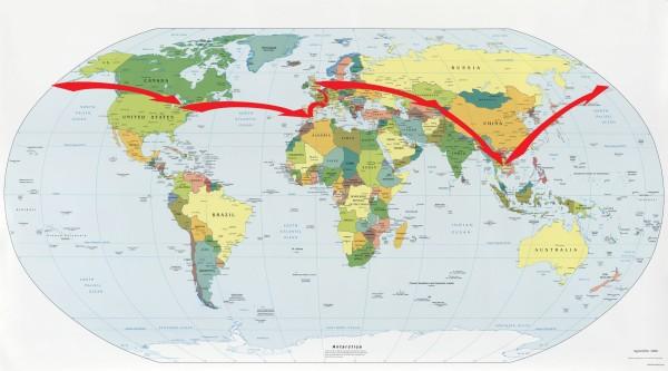 Circumnavigating the Globe