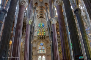Guadi Barcelona La Sagrada Familia Interior