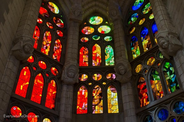 Guadi Barcelona La Sagrada Familia Stained Glass