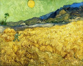 Van Gogh Weatfield with a Reaper