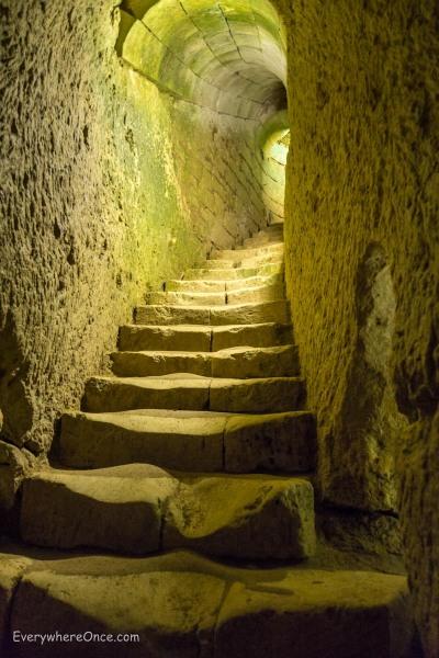 Château de Brézé, Underground Stairs