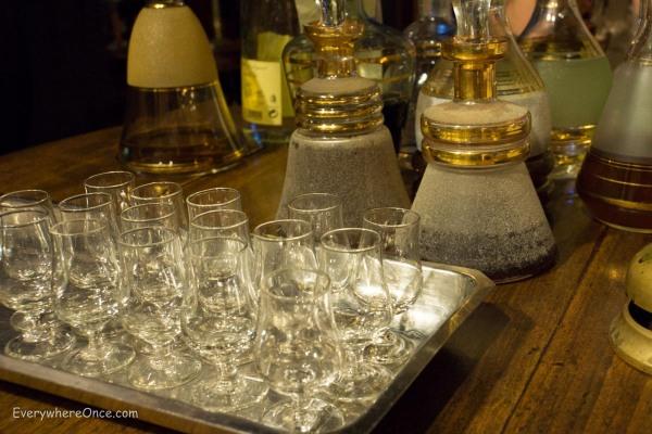 A selection of homemade liquors