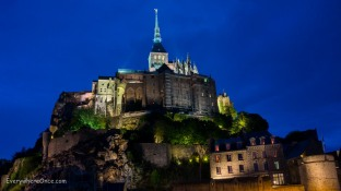 Mont Saint Michel at Night