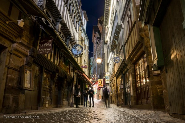 Mont Saint Michel Streets at Night