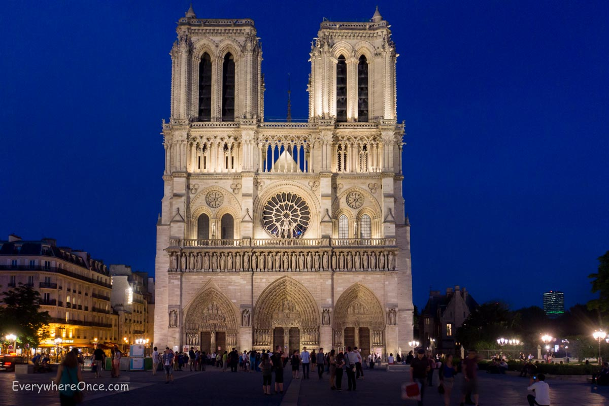 a night show at notre dame everywhere once