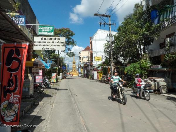 A Street in Chiang Rai Thailand